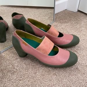 Camper Modified Pink and Green Heels Size 39